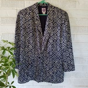 Saks Fifth Avenue Jackets & Coats - Saks fifth avenue silk blazer ikat vintage